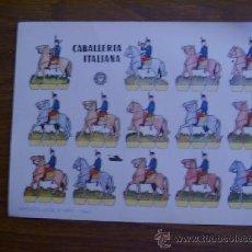Coleccionismo Recortables: RECORTABLE BRUGUERA: CABALLERÍA ITALIANA. Lote 28141783