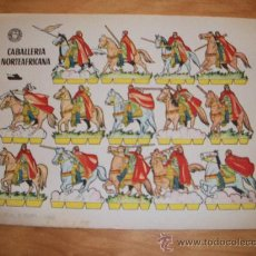 Coleccionismo Recortables: CABALLERIA NORTEAFRICANA ( SOLDADOS RECORTABLES EDITORIAL BRUGUERA 1960 ) . Lote 28233962