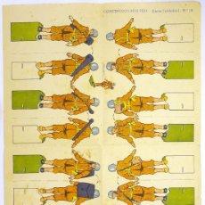 Coleccionismo Recortables: RECORTABLE SOLDADOS, CONSTRUCCIONES PEPI, EDITORIAL ROMA, SERIE SOLDADOS, Nº 12. Lote 28406974