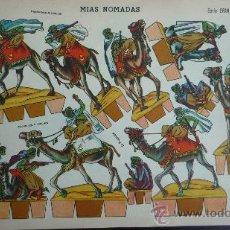 Coleccionismo Recortables: EDICIONES LA TIJERA 1958.- MIAS NÓMADAS.- SERIE GRAN ILUSIÓN Nº 2.- TAMAÑO 33,5 X 24,2 CM.. Lote 51602813