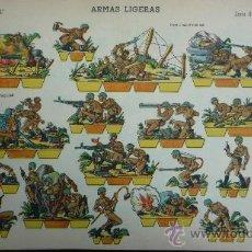 Coleccionismo Recortables: EDICIONES LA TIJERA 1958.- ARMAS LIGERAS.- SERIE GRAN ILUSIÓN Nº 3.- TAMAÑO 33,5 X 24,2 CM.. Lote 28680311