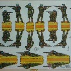 Coleccionismo Recortables: EDICIONES LA TIJERA 1958.- INFANTERÍA EN ACCIÓN.- SERIE 10 Nº 23.- TAMAÑO 32,3 X 22,7 CM.. Lote 28680422