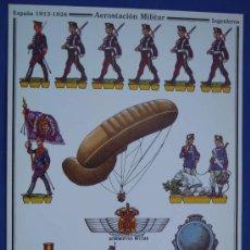 Coleccionismo Recortables: RECORTABLE AEROSTACION MILITAR ESPAÑOLA. Lote 37595442