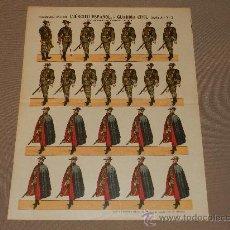 Coleccionismo Recortables: (M.C) RECORTABLES EJERCITO ESPAÑOL GUARDIA CIVIL, SERIE A N.2, ESTAMPERIA PALUZIE. Lote 30211937