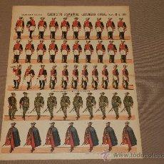 Coleccionismo Recortables: (M.C) RECORTABLES EJERCITO ESPAÑOL GUARDIA CIVIL, SERIE B N.104, ESTAMPERIA PALUZIE. Lote 30211998