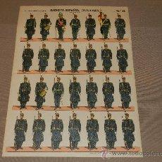Coleccionismo Recortables: (M.C) RECORTABLES EJERCITO ESPAÑOL CAZADORES TRAJE DE GALA N.46, ESTAMPERIA PALUZIE. Lote 30212521