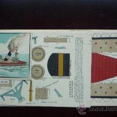 Coleccionismo Recortables: RECORTABLE 'CRUCERO' 3 LÁMINAS CARTULINA, TAMAÑOS 39 X 15 (2) Y 26 X 14,5 (1) CM. . Lote 30336143