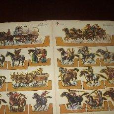 Coleccionismo Recortables: RECORTABLE OESTE AMERICANO ;RECORT ZAS- SEIE A .NUMEROS 11 Y12 EDITA ROSES - BARCELONA MIDE 50X34 . Lote 30537343