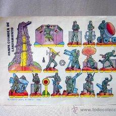 Coleccionismo Recortables: RECORTABLE, MILITAR, RAMPA COSMICA DE LANZAMIENTO, 1960, 17 X 24 CM. Lote 30732410
