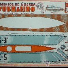 Coleccionismo Recortables: 'INSTRUMENTOS DE GUERRA' SERIE COMPLETA 12 RECORTABLES DIFERENTES, TAMAÑO 32 X 23 CM. VER DISEÑOS. Lote 30709201