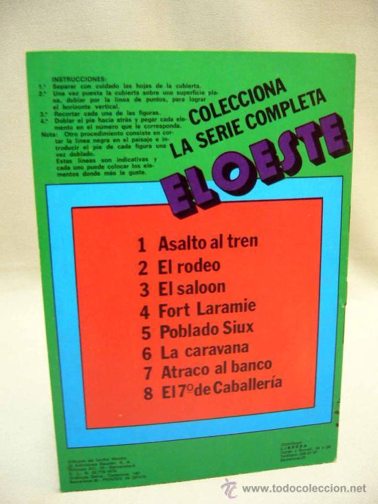 Coleccionismo Recortables: RECORTABLES, LOTE, SERIE COMPLETA, 8 NUMEROS, ESCENAS RECORTABLES EL OESTE, BAUSAN - Foto 2 - 30787562