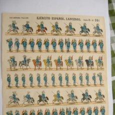 Coleccionismo Recortables: EJERCITO ESPAÑOL,LANCEROS SERIE D 261.BANDERA REPUBLICANA. Lote 31291410
