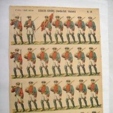 Coleccionismo Recortables: LIT ROVIRA Y CHIQUES.BARCELONA.EJERCITO ESPAÑOL.GUARDIA CIVIL. Lote 31556540