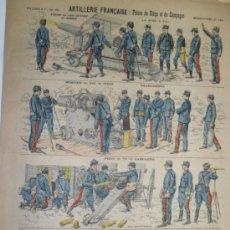 Coleccionismo Recortables: PELLERIN & CIA ARTILLERIE FRANCAISE:PIECES DE SIEGE ET DE CAMPAGNE Nº144. Lote 31738451