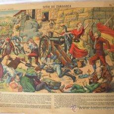 Coleccionismo Recortables: PALUZIE.SITIO DE ZARAGOZA. Lote 32014735