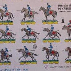 Coleccionismo Recortables: LOTE DE 14 LÁMINAS RECORTABLES ORIGINALES DE SOLDADOS AÑOS 60 – 61. EDITORIAL BRUGUERA. Lote 32137215
