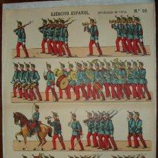Coleccionismo Recortables: EJÉRCITO ESPAÑOL. INFANTERIA DE LINEA. PALUZIE, Nº 50. (40 X 29 CM). Lote 32253964