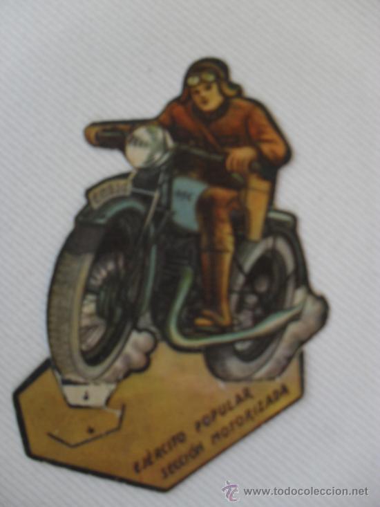 TROQUELADO EJERCITO POPULAR.SECCION MOTORIZADA (Coleccionismo - Recortables - Soldados)