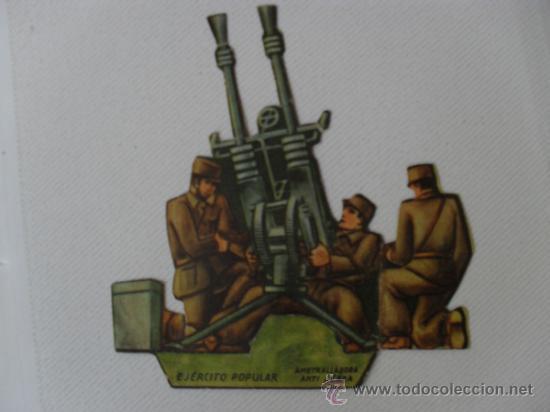 TROQUELADO EJERCITO POPULAR.AMETRALLADORA ANTIAEREA (Coleccionismo - Recortables - Soldados)