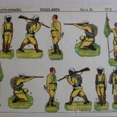 Coleccionismo Recortables: EJERCITO ESPAÑOL.REGULARES SERIE B Nº 2 LIT ANEL. Lote 32592185