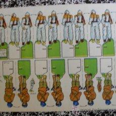 Coleccionismo Recortables: RECORTESAZUCENA SERIE SOLDADOS Nº 11 JAPONESES. Lote 32671770