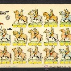 Coleccionismo Recortables: RECORTABLE DE SOLDADOS: CABALLERIA ITALIANA (ED.BRUGUERA). Lote 33828722