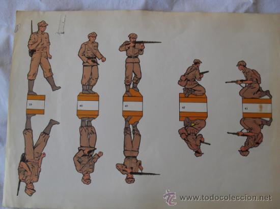 RECORTABLE SIN MARCA.SOLDADOS JAPONESES (Coleccionismo - Recortables - Soldados)