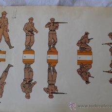 Coleccionismo Recortables: RECORTABLE SIN MARCA.SOLDADOS JAPONESES. Lote 34372151