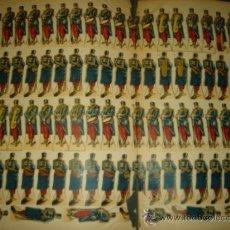 Coleccionismo Recortables: LAMINA CROMOLITOGRÁFICA DE SOLDADOS PARA RECORTAR - 1880 APROX - RECORTABLE MILITARIA - ANTIGUO . Lote 34404414