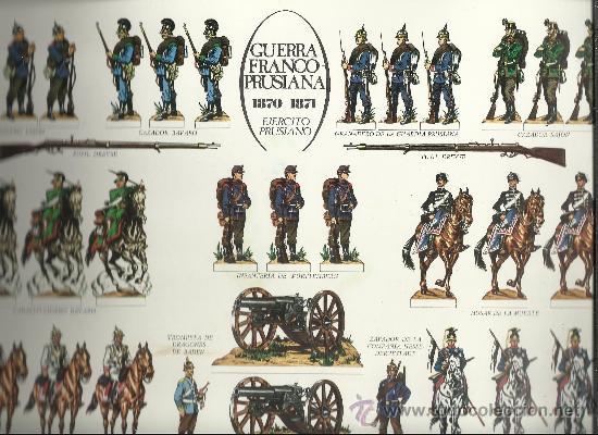 RARA COLECCION DE ANTIGUOS RECORTABLES DE SOLDADOS GUERRAS FRANCO PRUSIANA Y DE LA REVOLUCION VER (Coleccionismo - Recortables - Soldados)