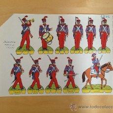 Coleccionismo Recortables: ANTIGUO RECORTABLE EDITORIAL ROMA RECORTES COMETA - SOLDADOS Nº 15 - INFANTERIA ESPAÑOLA 1825 - MIDE. Lote 36394511