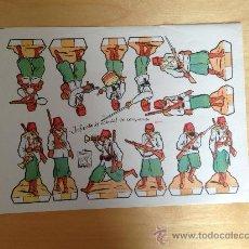 Coleccionismo Recortables: RECORTABLE DE SOLDADOS: INFANTERIA COLONIAL EN CAMPAÑA (RECORTES AZUCENA NUM.38) 25 X 18 CMS. Lote 36394550