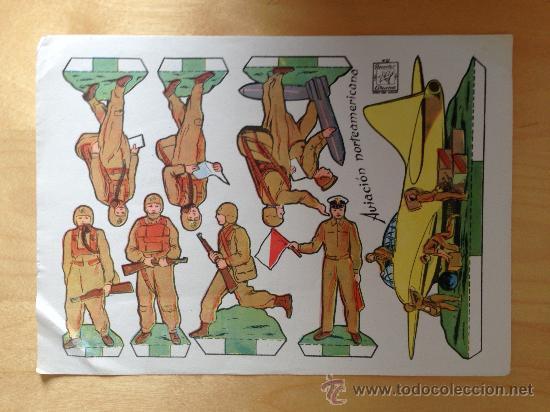AVIACION NORTEAMERICANA. RECORTABLES AZUZENA Nº 37 (Coleccionismo - Recortables - Soldados)
