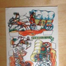 Coleccionismo Recortables: ANTIGUO RECORTABLE DE LA CARAVAN MIDE 21 X 29 CM. SIN DATOS FIRMA RIBAS. Lote 36394857