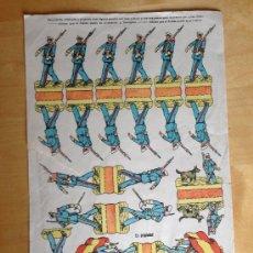 Coleccionismo Recortables: RECORTABLE INFANTERIA DE MARINA ESPAÑOLA. AÑOS 50 RASGADO. COMO SE VE. Lote 36846731