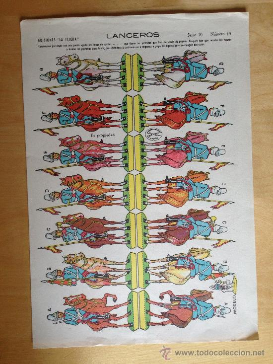 CABALLERIA. EDICIONES LA TIJERA SERIE 10 Nº 19. AÑO DE IMPRESION 1939-1940 (Coleccionismo - Recortables - Soldados)