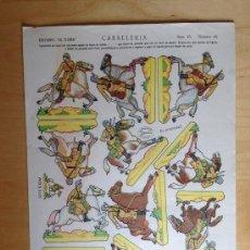 Coleccionismo Recortables: RECORTABLES LA TIJERA. 23X33. SERIE 10 .CABALLERIA. Nº 10. Lote 36395109