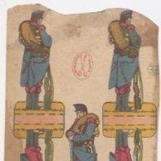 Coleccionismo Recortables: RECORTABLE DE MILITARES. Lote 36496082