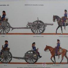 Coleccionismo Recortables: EJERCITO ESPAÑOL 1910.ARTILLERIA DE CAMPAÑA MONTADA.Nº47. Lote 36526853