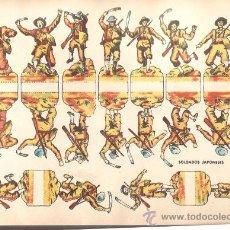 Coleccionismo Recortables: RECORTABLE * SOLDADOS JAPONESES * 29 X 21 CM. Lote 37642461