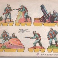 Coleccionismo Recortables: RECORTES CHIC - SOLDADOS - BLOC DE 100 HOJAS - 18 MODELOS DIFERENTES. Lote 37817585