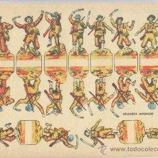 Coleccionismo Recortables: HOJA RECORTABLE *SOLDADOS JAPONESES* (29,50 X 21 CM). Lote 37890722