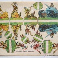 Coleccionismo Recortables: LAMINA RECORTABLE INFANTERIA Y TANQUE AMERICANOS AÑOS 40-50. Lote 39757559