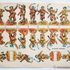 Coleccionismo Recortables: LAMINA RECORTABLE SOLDADOS JAPONESES AÑOS 40-50. Lote 176216180
