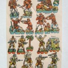 Coleccionismo Recortables: LAMINA RECORTABLE REGULARES JAPONESES AÑOS 40-50. Lote 39757789