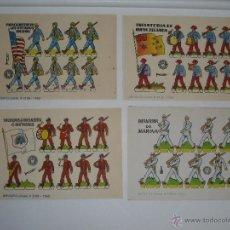 Coleccionismo Recortables: LOTE CUATRO RECORTABLES BRUGUERA 1960. Lote 40038258