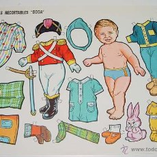 Coleccionismo Recortables: ANTIGUO RECORTABLE GRANDE DE MUÑECAS BOGA Nº 454 - MIDE 34 X 24 CMS.. Lote 38243671
