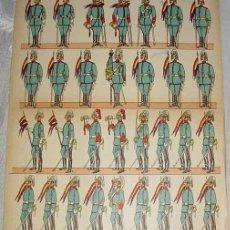 Coleccionismo Recortables: ANTIGUO RECORTABLE ED. PALUZIE - EJERCITO ESPAÑOL - PIE A TIERRA - SERIE A - Nº 27 - MIDE 35 X 28 C. Lote 38244648