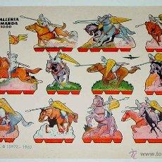 Coleccionismo Recortables: ANTIGUO RECORTABLE BRUGUERA CABALLERIA NORMANDA AÑO 1000 - 1960 - 24,2 X 17 CMS.. Lote 38265315