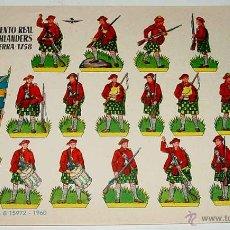 Coleccionismo Recortables: ANTIGUO RECORTABLE BRUGUERA - REGIMIENTO REAL DE HIGHLANDERS INGLATERRA 1758 - 1960 - 24,2 X 17 CMS.. Lote 38265329